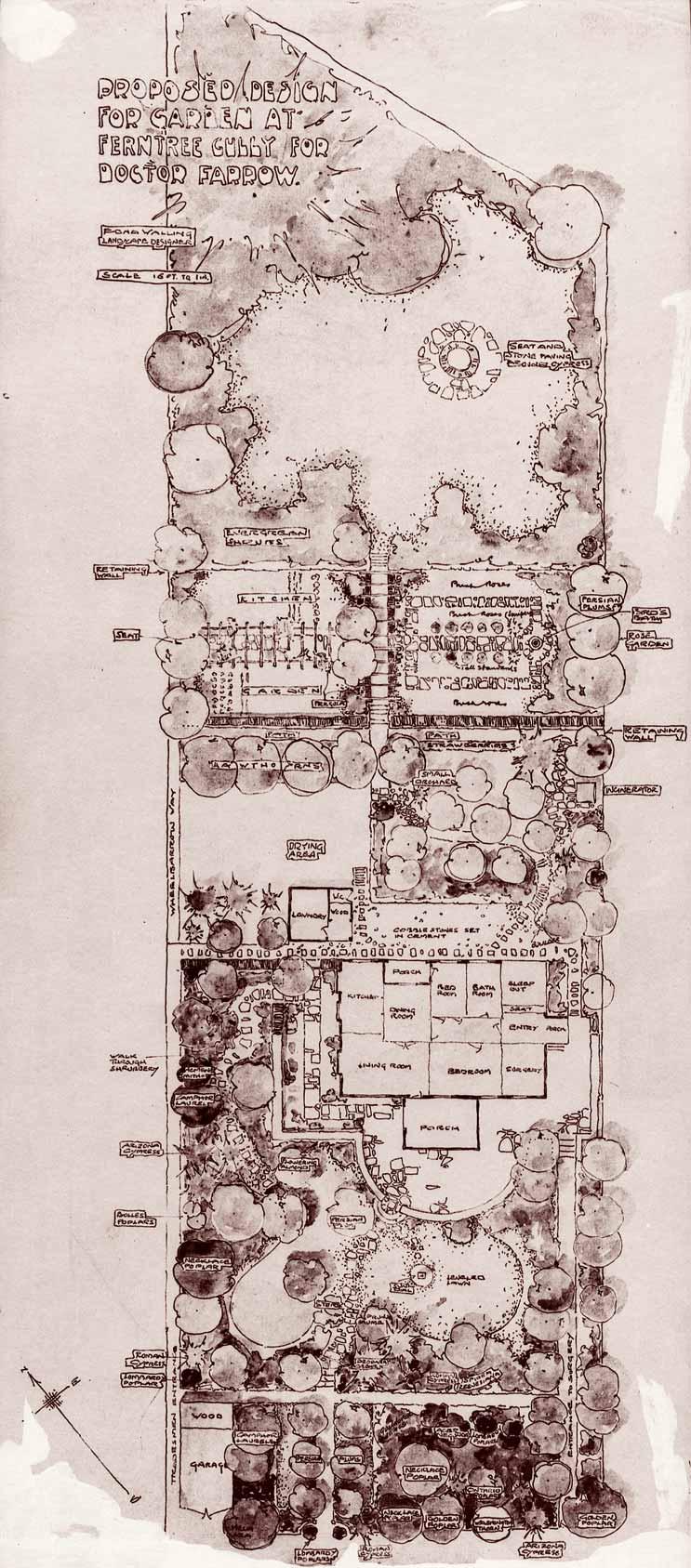 Proposed garden design plan farrow for Garden planner australia
