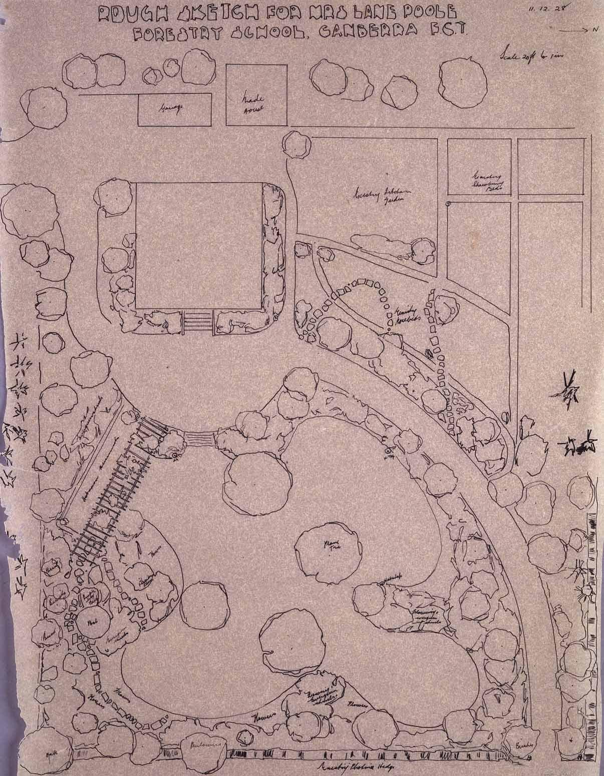 Rough Sketch Garden Plan Forestry School